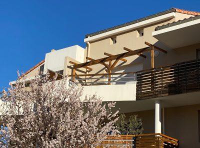 Appartement type 3 au 1er étage avec terrasse et garage