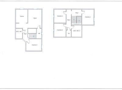 Appartement Type 5 Duplex de 85m² au 2e étage d'un immeuble